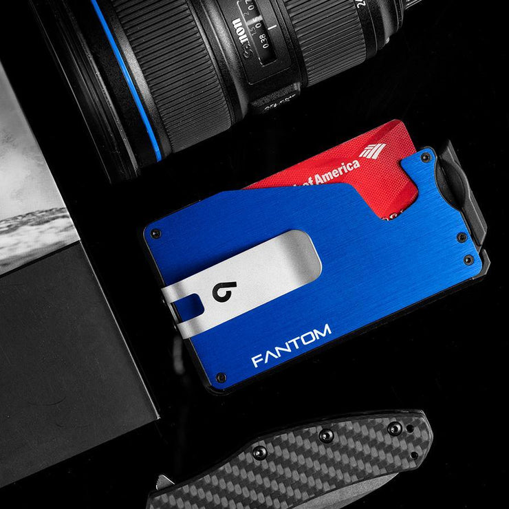 Fantom F10 Aluminium Wallet (Blue) - Everyday Carry