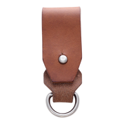 Dango Leather Belt Fob (Whiskey Brown) - Back View