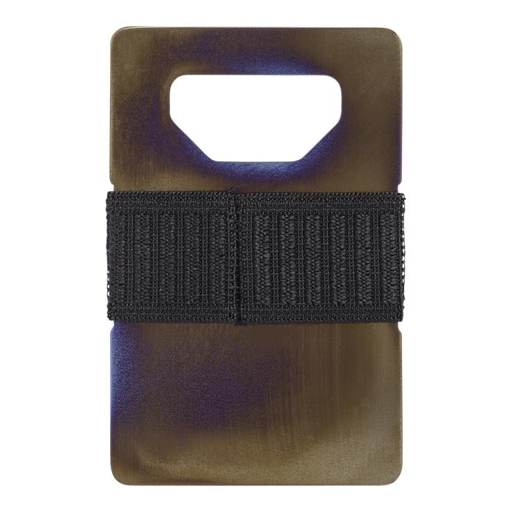 Spine Titanium Minimalist Wallet (Fuego) - Back View