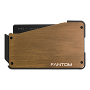 Fantom S 10 Regular Aluminium Wallet (Gold) - Back View