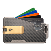Fantom R 7 Carbon Fibre Wallet - Gold Money Clip