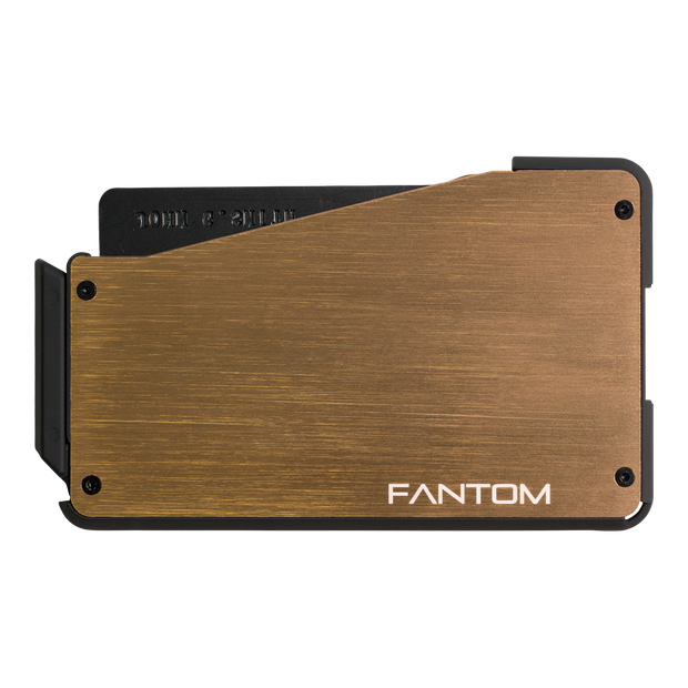 Fantom S 7 Regular Aluminium Wallet (Gold) - Back View