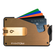 Fantom S 13 Regular Aluminium Wallet (Gold) - Gold Money Clip