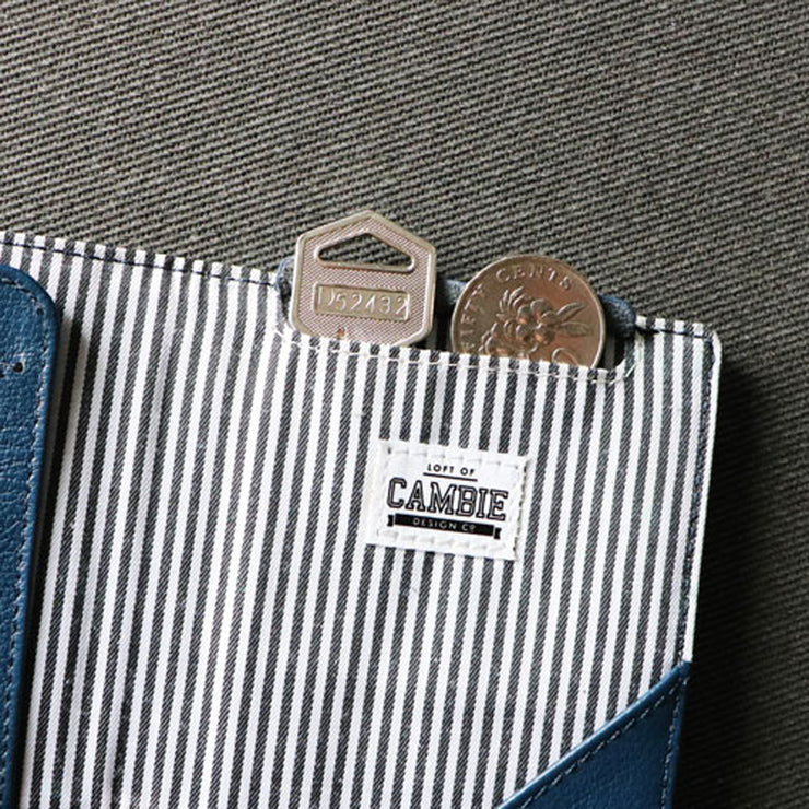 Loft of Cambie Flip Wolyt with RFID Shield (Sapphire Blue) - Secret Pocket