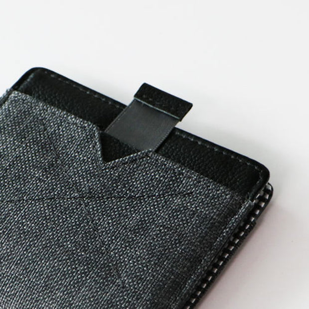 Loft of Cambie Flip Wolyt with RFID Shield (Heather Black) - Pull Tab