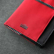 Loft of Cambie Flip Wolyt with RFID Shield (Red/Black) - Full Grain Leather