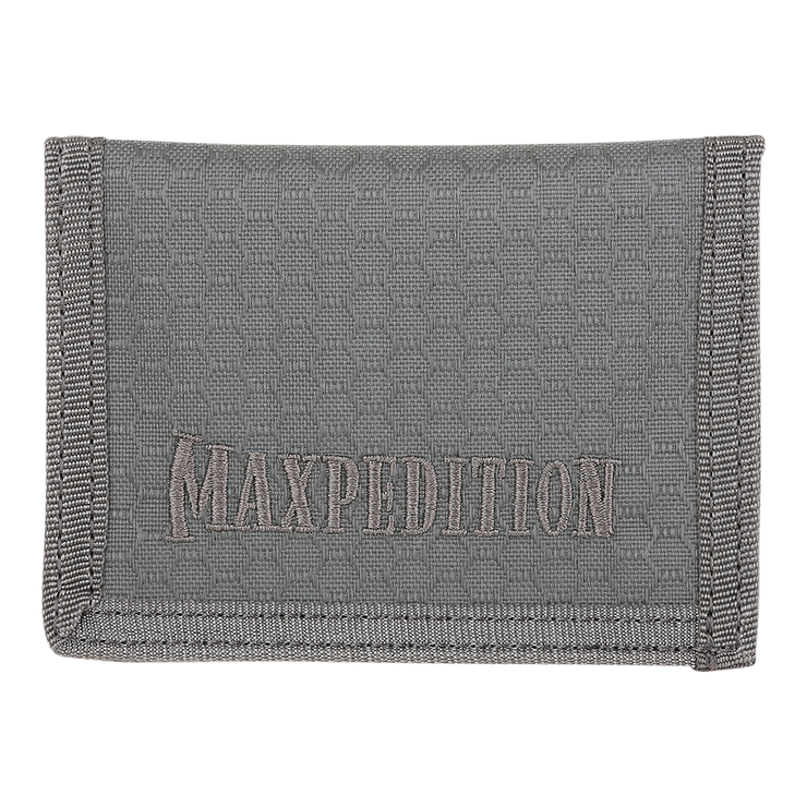 Maxpedition AGR LPW Low Profile Wallet (Grey) - Triple Fabric Nylon Construction