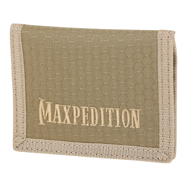Maxpedition AGR LPW Low Profile Wallet (Tan) - Front View