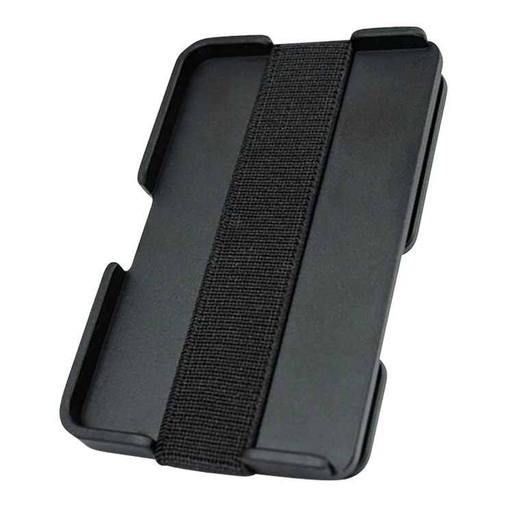 Liquid Carry Carbon Fibre Wallet (Silver Screws) - Back View