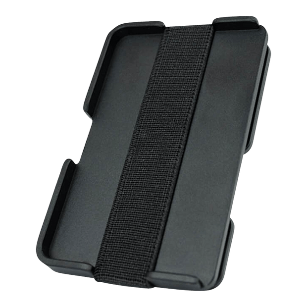 Liquid Carry Aluminium Wallet (Matte Black / Silver Screws) - Back View