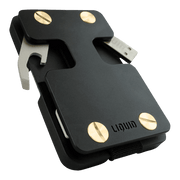 Liquid Carry Aluminium Wallet (Matte Black / Gold Screws) - Bottle Opener & USB Stick