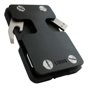 Liquid Carry Aluminium Wallet (Matte Black / Silver Screws) - Bottle Opener & USB Stick