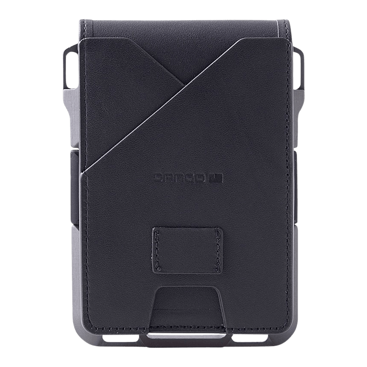 Dango M1 Maverick 4 Pocket Bifold Wallet (Jet Black/Slate Grey) - Back View