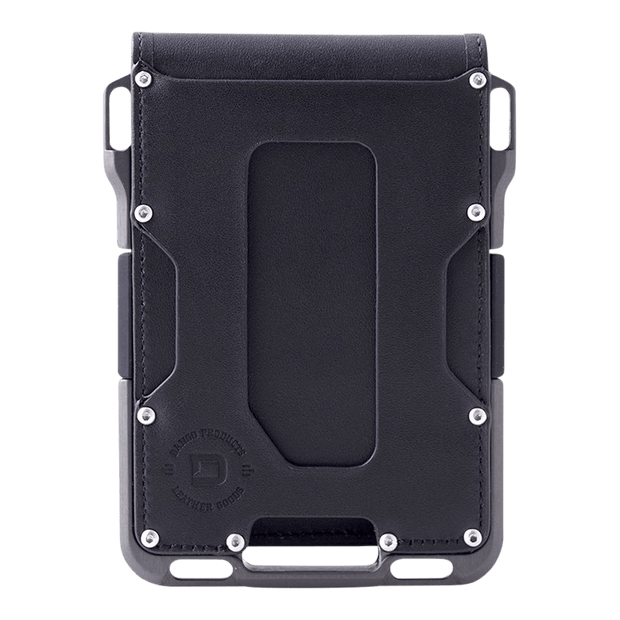 Dango M1 Maverick 4 Pocket Bifold Wallet (Jet Black/Slate Grey) - Front View