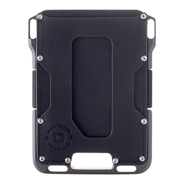 Dango M1 Maverick Single Pocket Wallet (Jet Black/Slate Grey) - Front View