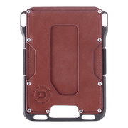 Dango M1 Maverick Single Pocket Wallet (Whiskey Brown/Slate Grey) - Front View