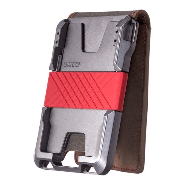 Dango M1 Maverick 4 Pocket Bifold Special Edition Wallet (Slate Grey) - Anodised Aluminium Chassis