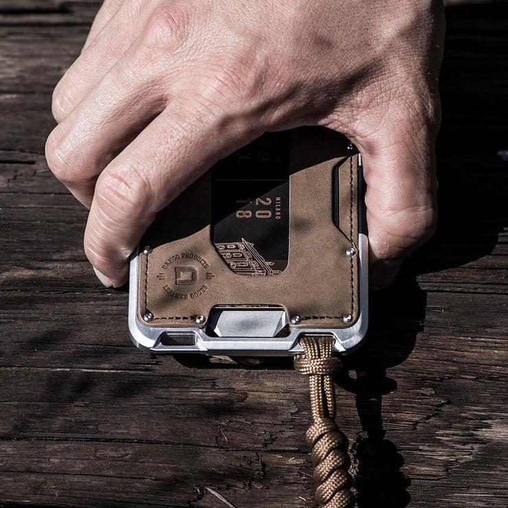 Dango M1 Maverick Tactical 4 Pocket Bifold Wallet (RAW Edition) - RAW Leather