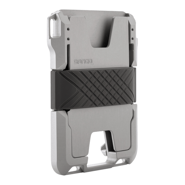 Dango M1 Maverick Rail Wallet (Satin Silver) - Anodised Aluminium Back Plate