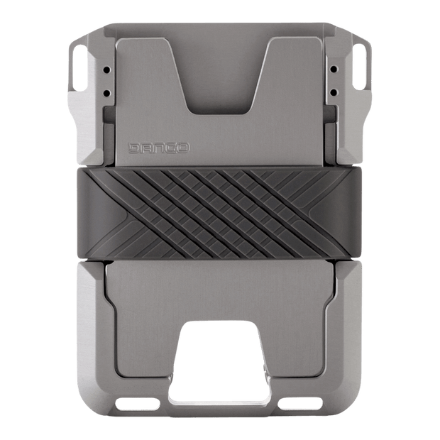 Dango M1 Maverick Rail Wallet (Satin Silver) - Back View