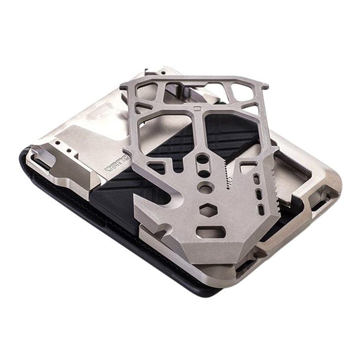 Dango M1 Maverick Titanium Tactical 4 Pocket Bifold Wallet -  High Carbon Stainless Steel MT04 Multi Tool