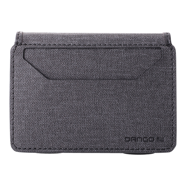 Dango A10 Adapt Bifold Wallet (Slate Grey) - DTEX Pocket Back View