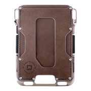 Dango M2 Maverick Nickel Plated Single Pocket Wallet (Raw Hide) - Front View