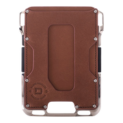 Dango M2 Maverick Nickel Plated Single Pocket Wallet (Whiskey Brown) - Front View