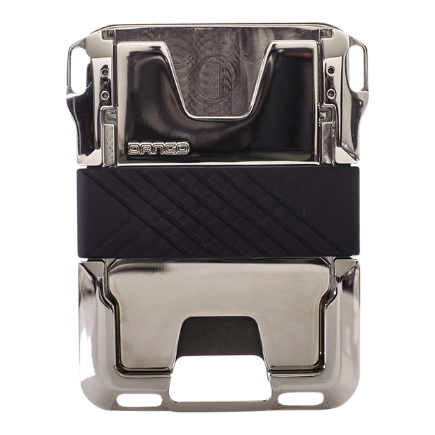 Dango M2 Maverick Nickel Plated Single Pocket Wallet (Jet Black) - Back View