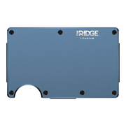 The Ridge Titanium Cash Strap Wallet (Matte Cobalt) - Front View