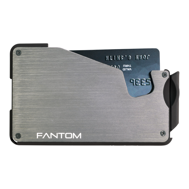Fantom S 13 Regular Aluminium Wallet (Silver) - Front View