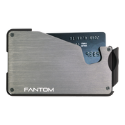 Fantom S 7 Coin Holder Aluminium Wallet (Silver) - Front View