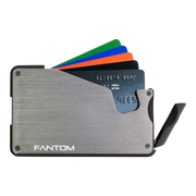 Fantom S 10 Coin Holder Aluminium Wallet (Silver) - Instant Access