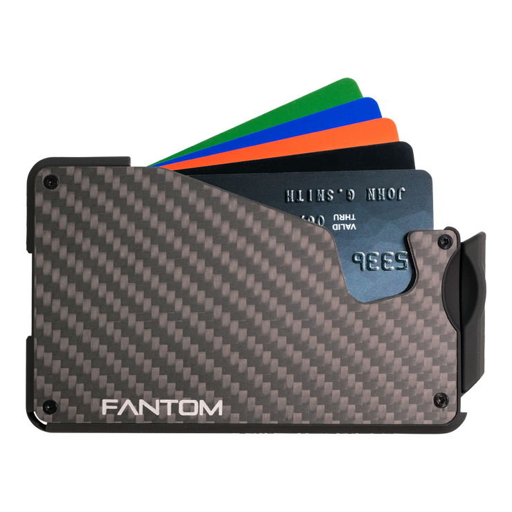 Fantom S 7 Coin Holder Carbon Fibre Wallet - Cards Fanned