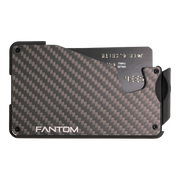 Fantom S 13 Coin Holder Carbon Fibre Wallet - Front View