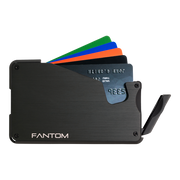 Fantom S 10 Coin Holder Aluminium Wallet (Black) - Instant Access