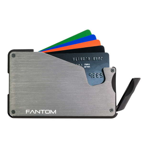 Fantom S 7 Coin Holder Aluminium Wallet (Silver) - Instant Access