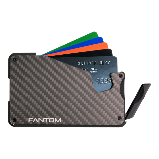 Fantom S 10 Coin Holder Carbon Fibre Wallet - Instant Access
