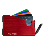 Fantom S 7 Regular Aluminium Wallet (Red) - Instant Access