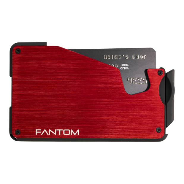 Fantom S 13 Coin Holder Aluminium Wallet (Red) - Front View
