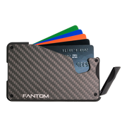 Fantom S 7 Coin Holder Carbon Fibre Wallet - Instant Access