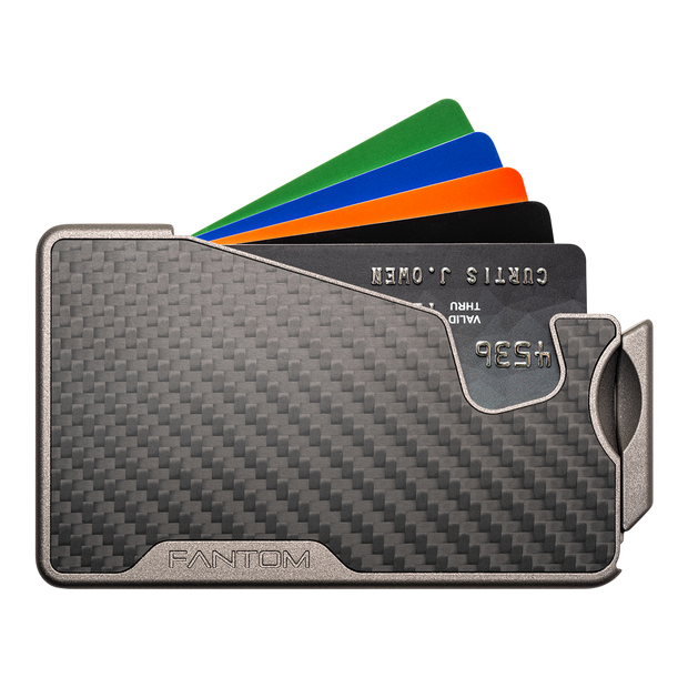 Fantom R 10 Carbon Fibre Wallet - Front View