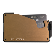Fantom S 10 Regular Aluminium Wallet (Gold) - Front View