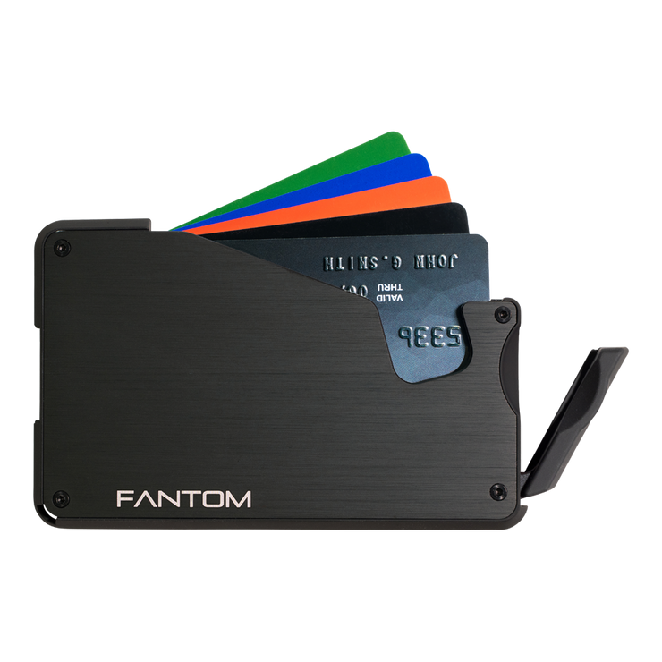 Fantom S 10 Regular Aluminium Wallet (Black) - Instant Access