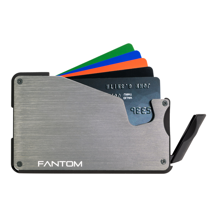 Fantom S 13 Regular Aluminium Wallet (Silver) - Instant Access