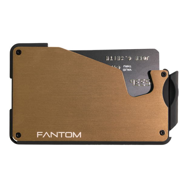 Fantom S 7 Coin Holder Aluminium Wallet (Gold) - Front View