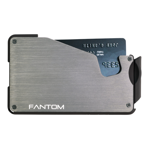 Fantom S 10 Coin Holder Aluminium Wallet (Silver) - Front View