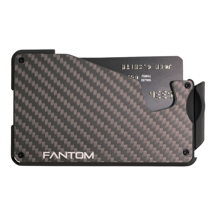 Fantom S 7 Coin Holder Carbon Fibre Wallet - Front View
