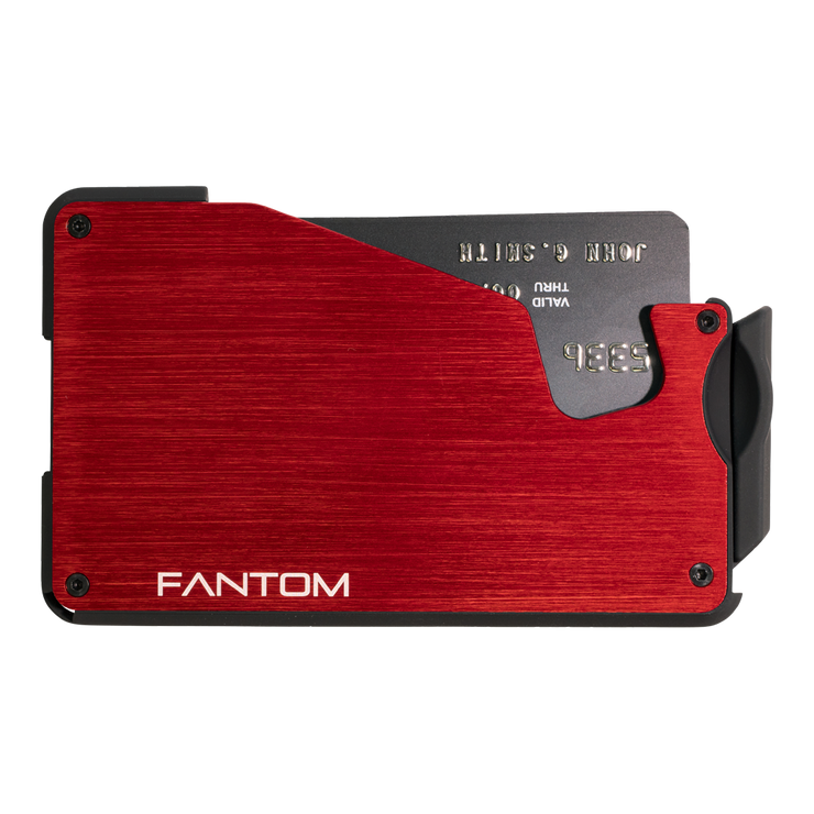 Fantom S 10 Coin Holder Aluminium Wallet (Red) - Front View