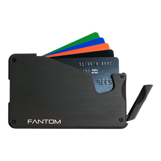 Fantom S 7 Coin Holder Aluminium Wallet (Black) - Instant Access